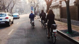 Riding in Tianjin