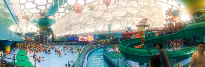 Inside of Beijing Water Cube