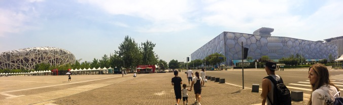Pano of Olympic Area, Beijing Water Cube and Bird's Nest