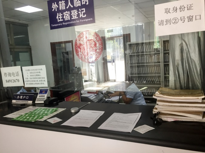 Beijing Police Registration Desk